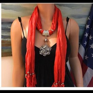 Scarf jewelry with scarf...,NWOT